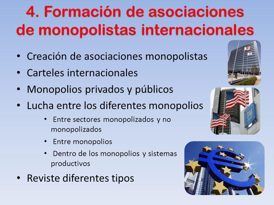 4. Formación de asociaciones de monopolistas internacionales 4. Formación de asociaciones de monopolistas internacionales Creación de asociaciones mon
