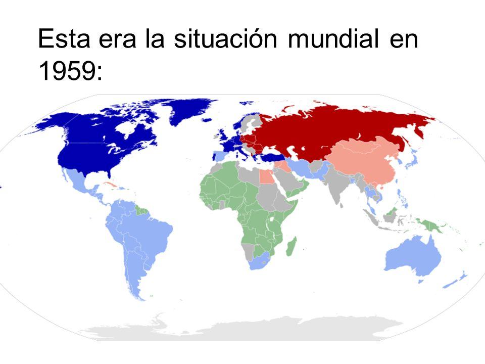 Esta era la situación mundial en 1980: