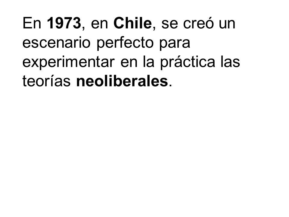 El 11 de septiembre de ese año, Augusto Pinochet encabezó un golpe militar contra el presidente Salvador Allende, que planteaba una vía pacífica al socialismo.