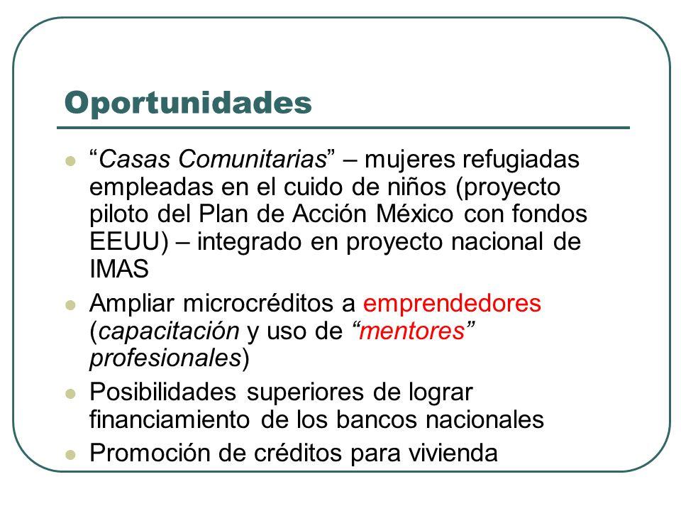 Impacto de Micro-créditos (Vivienda) Transición hacía vivienda superior Destacado interés en mejorar la calidad de vida familiar (desarrollo humano) F
