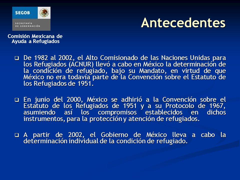 Comisión Mexicana de Ayuda a Refugiados COMAR En México, el órgano gubernamental encargado de proporcionar protección y asistencia a los refugiados es la Comisión Mexicana de Ayuda a Refugiados (COMAR).