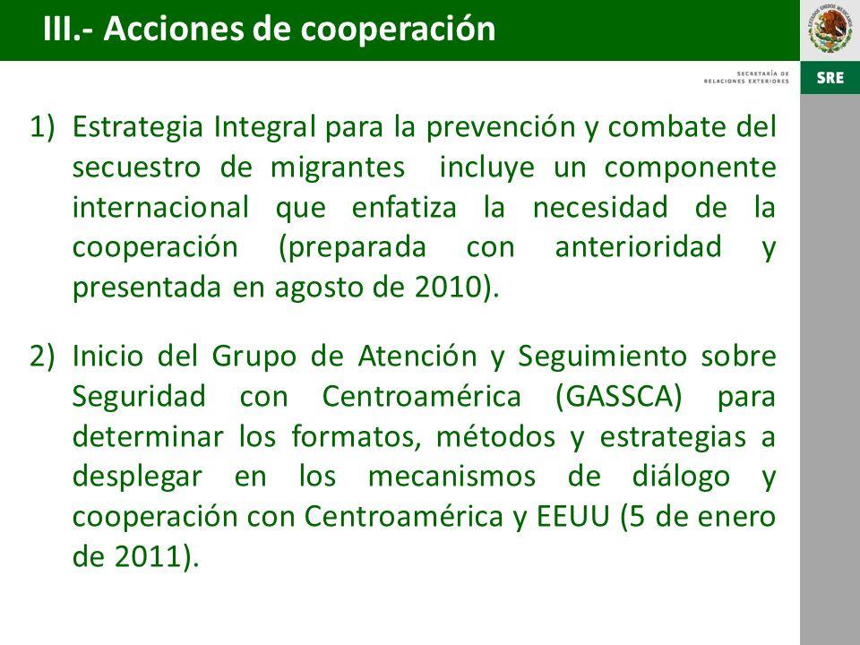3)Informe integral ante la CIDH sobre políticas públicas para proteger a los migrantes en territorio mexicano (julio 2010).