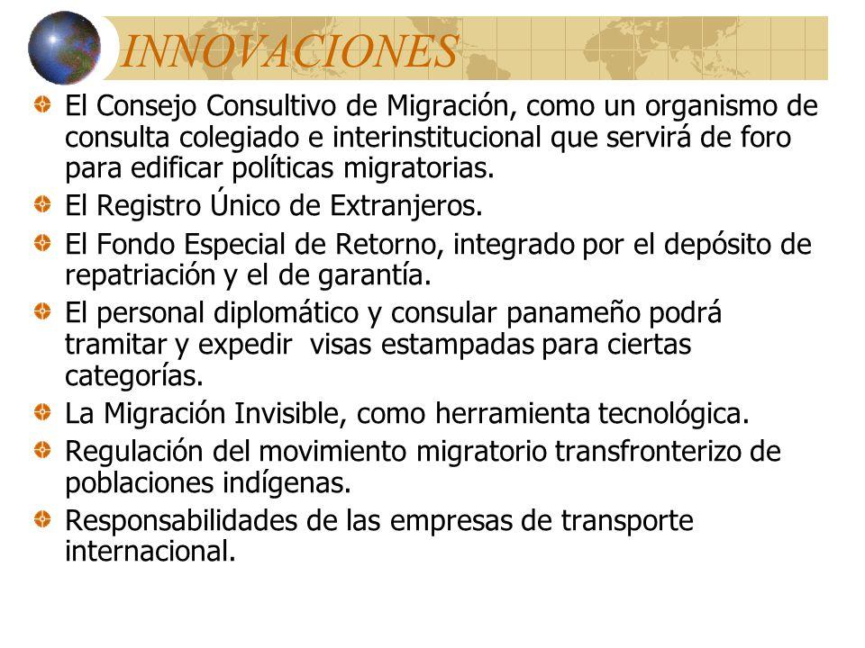 Otros procedimientos Determina los supuestos para la deportación y/o expulsión de extranjeros, así como el tiempo de la sanción de impedimento de entr