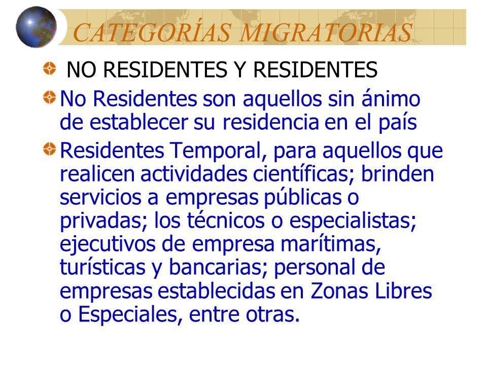 Personal Diplomático y Consular Ejercerán algunas funciones migratorias Por ejemplo: Recibir, tramitar y expedir visas estampadas en categoría de turi