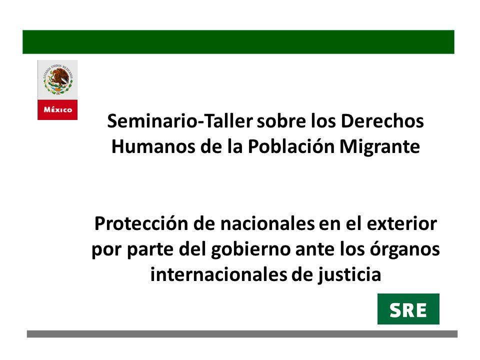 Protección de nacionales en el exterior ante órganos internacionales de justicia CIJ reafirmó que el artículo 36 de la CVRC consagra derechos individuales que deben ser respetados.