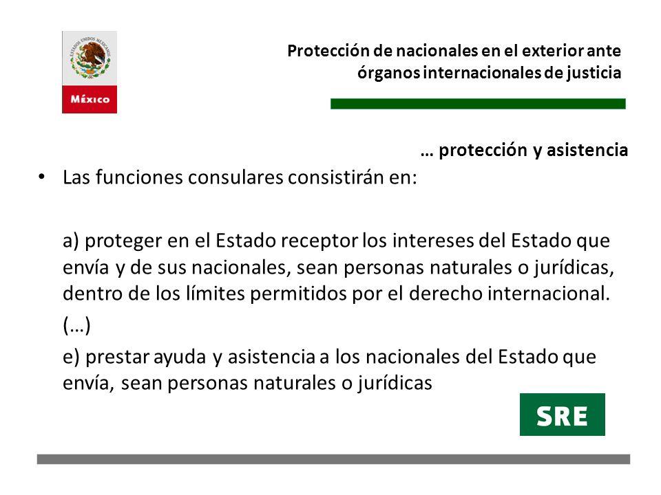 Protección de nacionales en el exterior ante órganos internacionales de justicia Temas: 2002 (artículo 64.1 de la CADH).