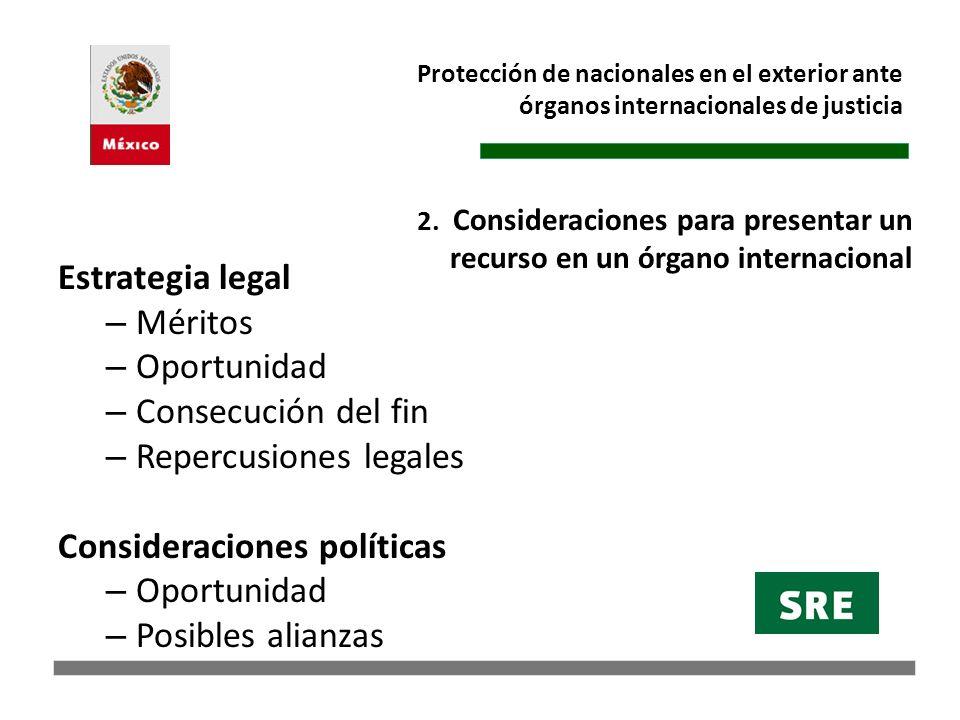 Protección de nacionales en el exterior ante órganos internacionales de justicia Corte Internacional de Justicia (CIJ) (Protocolo Opcional CVRC).