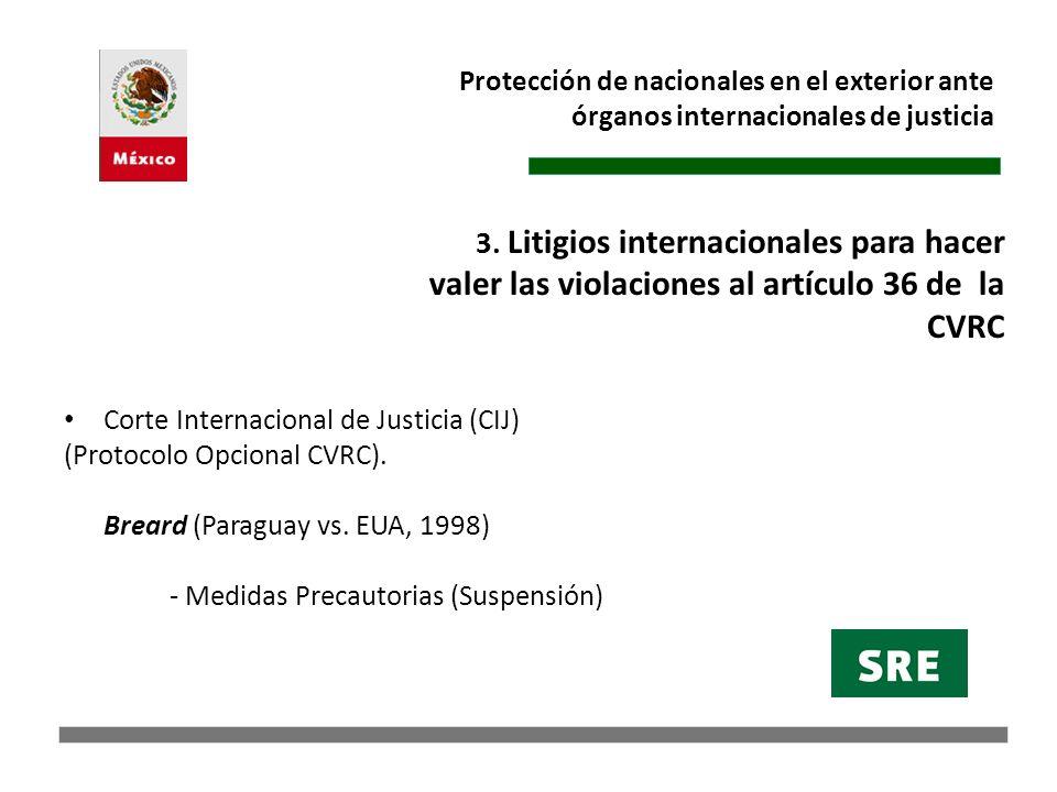 Protección de nacionales en el exterior ante órganos internacionales de justicia LaGrand (Alemania vs.