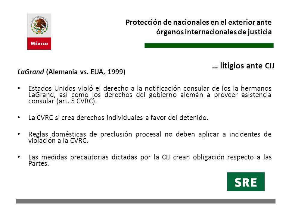 Protección de nacionales en el exterior ante órganos internacionales de justicia Trabajo conjunto Observaciones escritas (30abr98): la República Dominicana, la República de Honduras y la República de Guatemala.