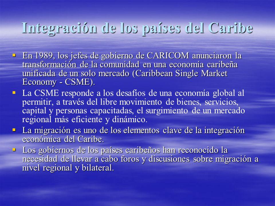 Seminario Regional del Caribe Desde 2001 la OIM y ACNUR, en colaboración con los gobiernos de los países del Caribe, han facilitado discusiones sobre migración a través de la organización de un Seminario Regional del Caribe sobre Flujos Migratorios Mixtos, realizado una vez al año.