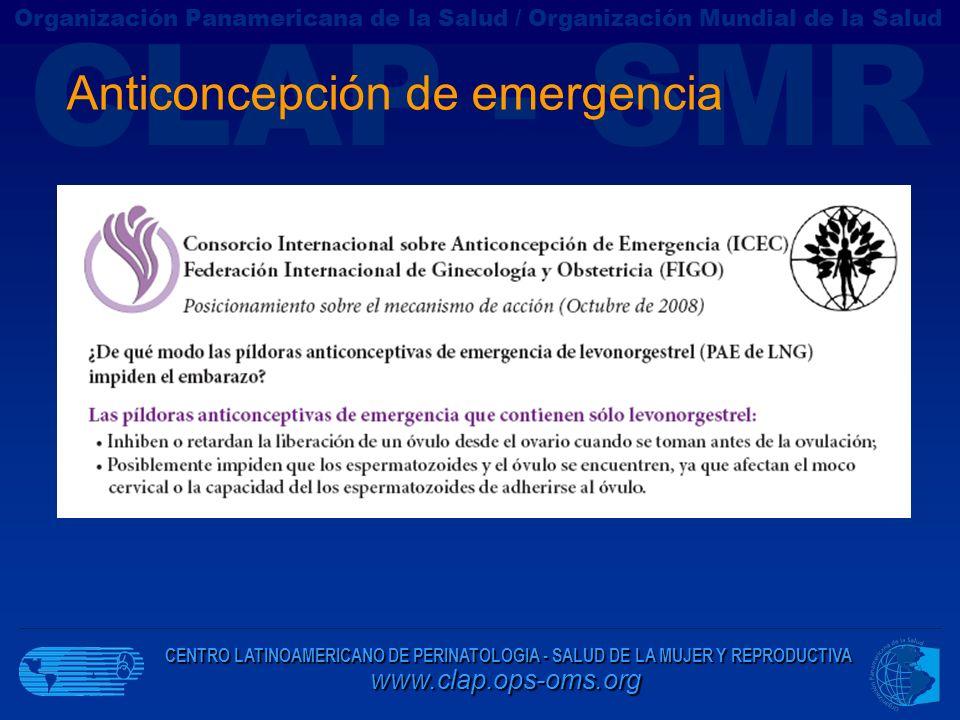 CENTRO LATINOAMERICANO DE PERINATOLOGIA - SALUD DE LA MUJER Y REPRODUCTIVA www.clap.ops-oms.org CLAP - SMR Organización Panamericana de la Salud / Org