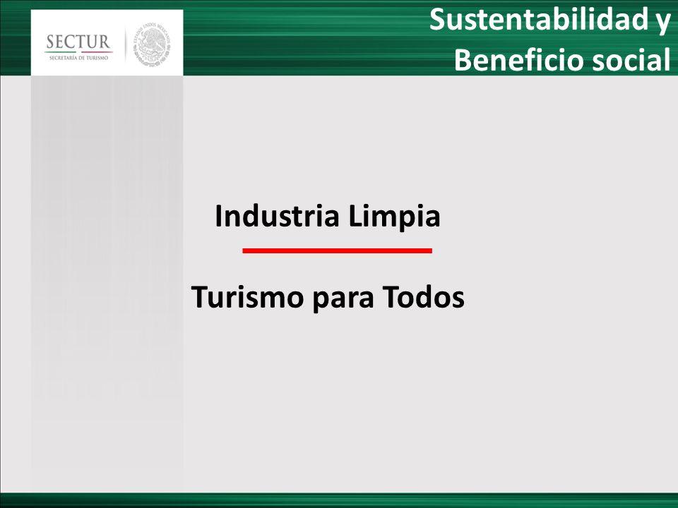 Sustentabilidad y Beneficio social Industria Limpia Turismo para Todos