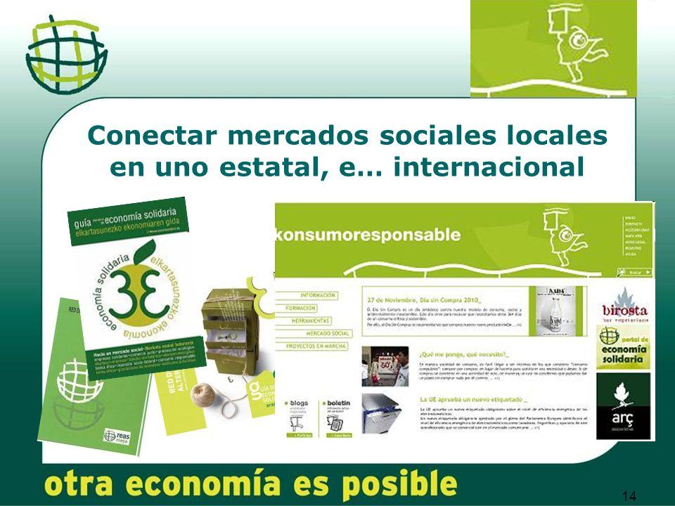 14 Conectar mercados sociales locales en uno estatal, e… internacional