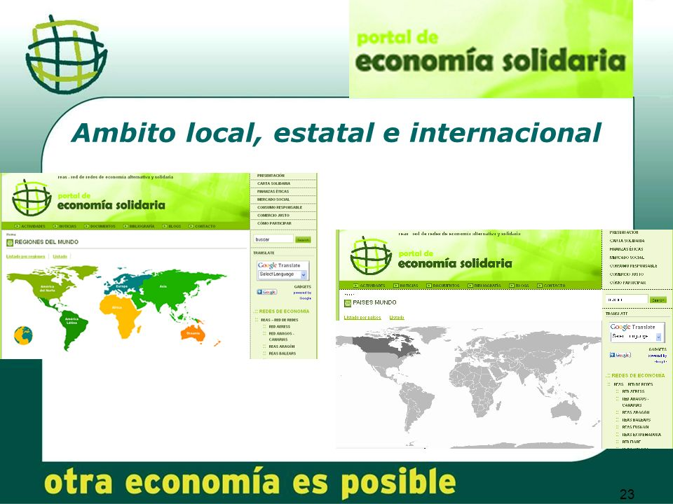 23 Ambito local, estatal e internacional