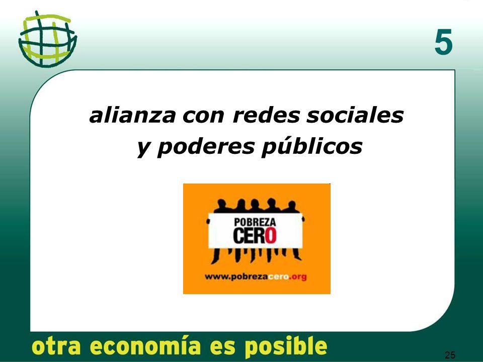 25 5 alianza con redes sociales y poderes públicos