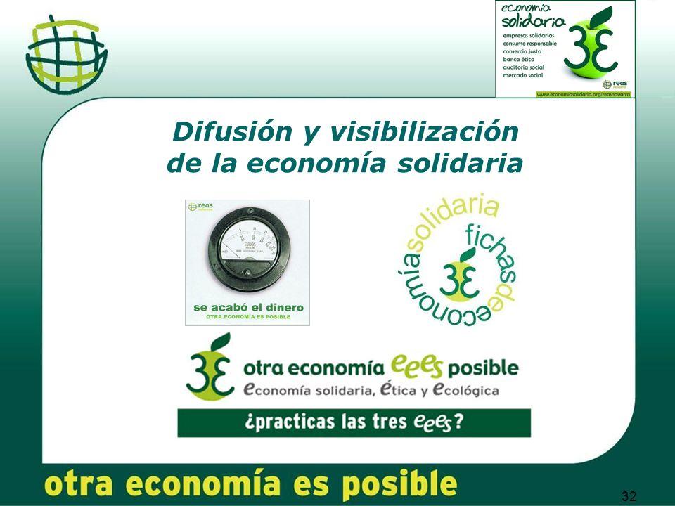 32 Difusión y visibilización de la economía solidaria