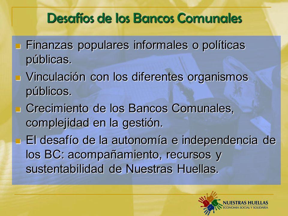 Desafíos de los Bancos Comunales Finanzas populares informales o políticas públicas.