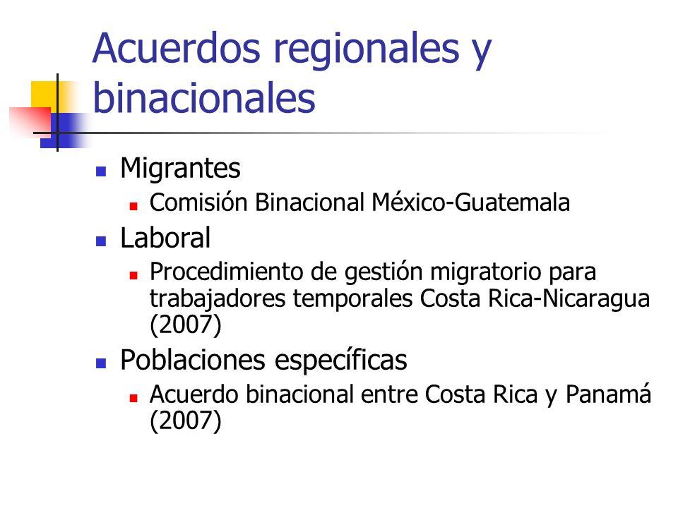 Acuerdos regionales y binacionales Migrantes Comisión Binacional México-Guatemala Laboral Procedimiento de gestión migratorio para trabajadores tempor