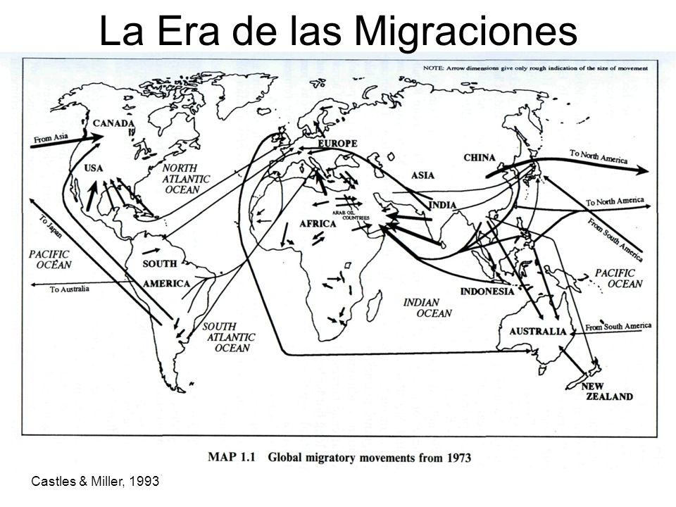 La era de las migraciones Alrededor 4% de población mundial son migrantes.