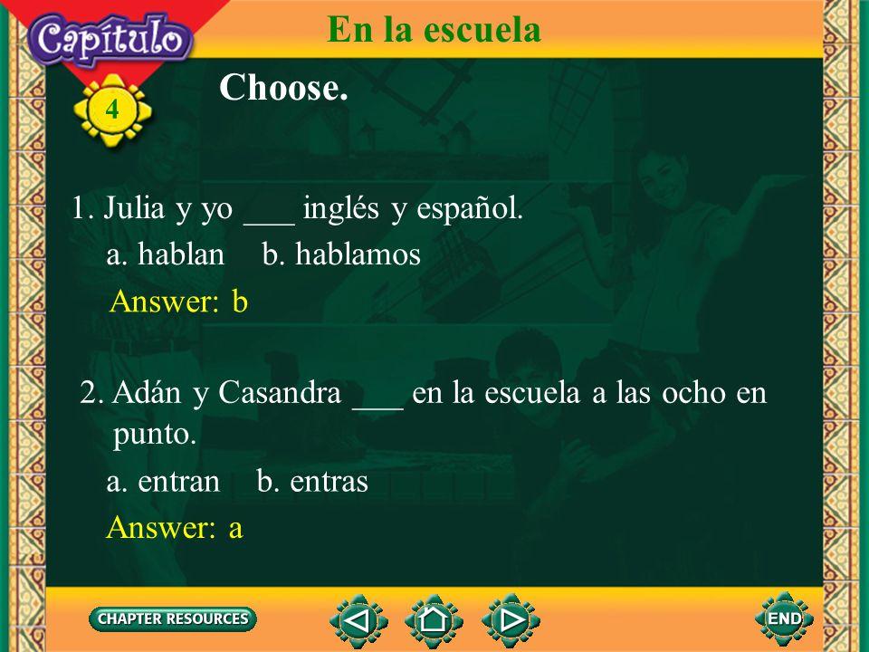 Presente de los verbos en -ar en el plural 4 4. Now review all the forms of the present tense of the regular -ar verbs. hablestuditom hablestuditom ha