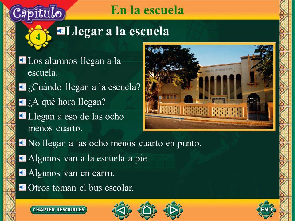 4 En la escuela 1.¿Con quién habla Rubén. Answer: Rubén habla con Héctor.