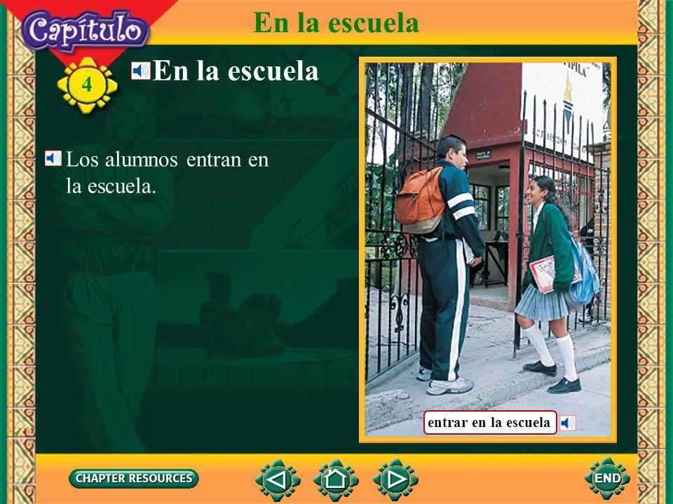 Vocabulario Other useful expressions a eso deabout 4 En la escuela en puntoexactly, on the dot otros(as)another algunos(as)some ahoranow tambiénalso (Spanish–English)