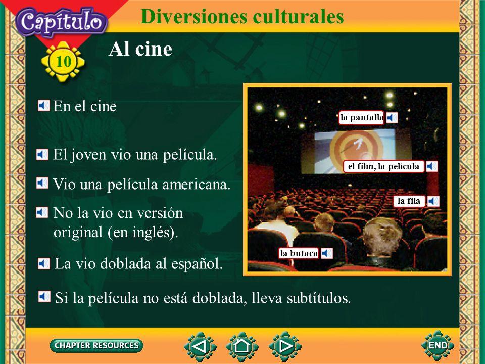 10 Diversiones culturales 1.Paula __ habló a Teodoro.