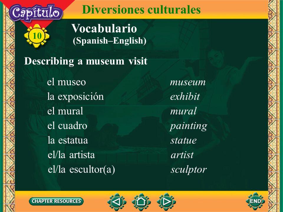 Vocabulario Discussing a movie theater en versión originalin its original version 10 Diversiones culturales con subtítuloswith subtitles doblado(a)dub