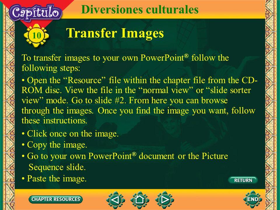 Vocabulario 10 Other useful expressions el/la jovenyouth Diversiones culturales delante de luego in front of later, then (English–Spanish)