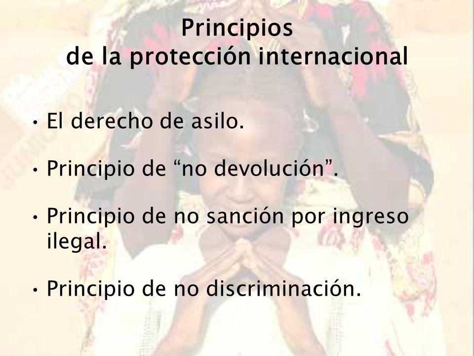 Marco jurídico internacional Convención de Ginebra sobre el Estatuto de los Refugiados de 1951Convención de Ginebra sobre el Estatuto de los Refugiados de 1951 Protocolo de 1967Protocolo de 1967 Convención de la Organización de la Unidad Africana de 1969Convención de la Organización de la Unidad Africana de 1969 Declaración de Cartagena sobre los Refugiados de 1984Declaración de Cartagena sobre los Refugiados de 1984