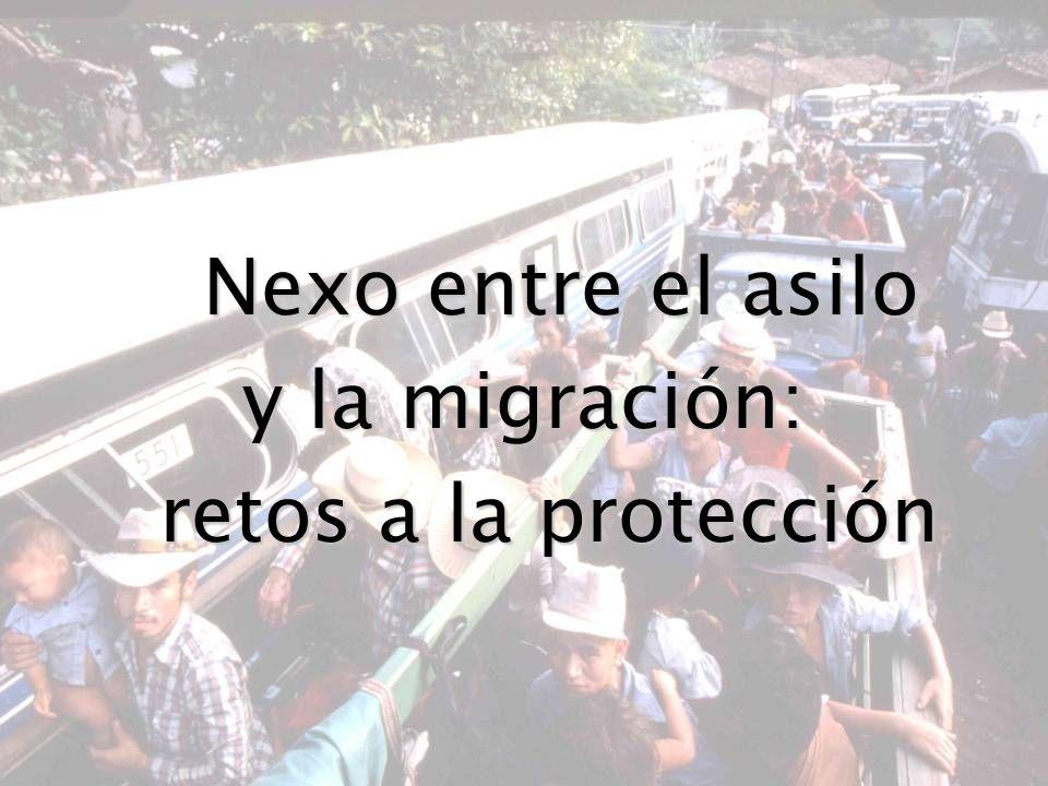 Migración mixta: una definición Es un movimiento que involucra: Es un movimiento que involucra: (a) personas que son refugiadas y que necesitan protección internacional; (b) personas vulnerables que necesitan protección pero que no son refugiadas; y (c) personas que se desplazan por razones no relacionadas con una necesidad de protección.
