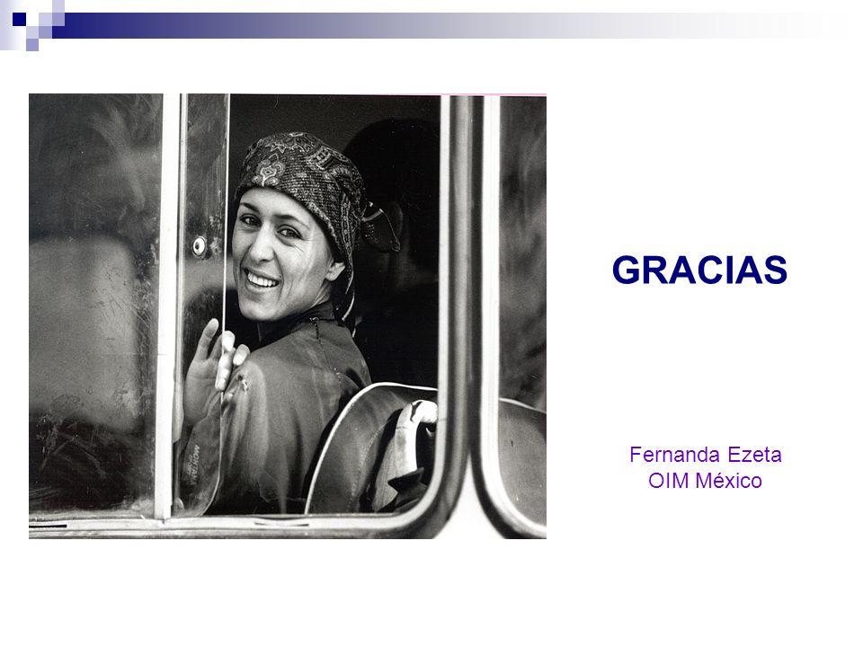 GRACIAS Fernanda Ezeta OIM México