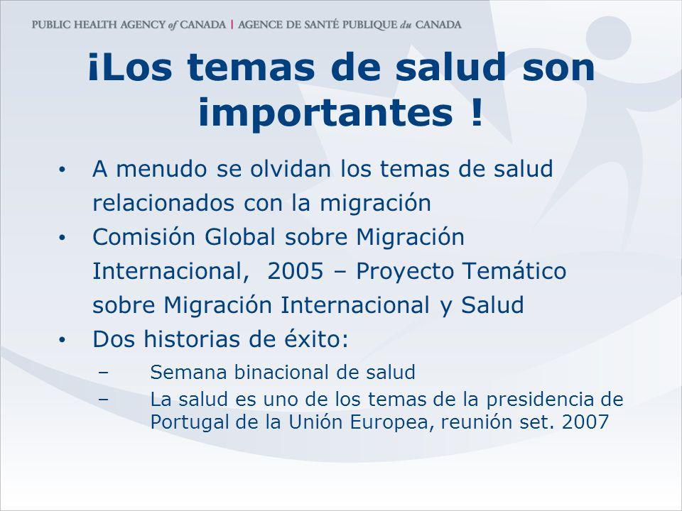 ¡Los temas de salud son importantes ! A menudo se olvidan los temas de salud relacionados con la migración Comisión Global sobre Migración Internacion
