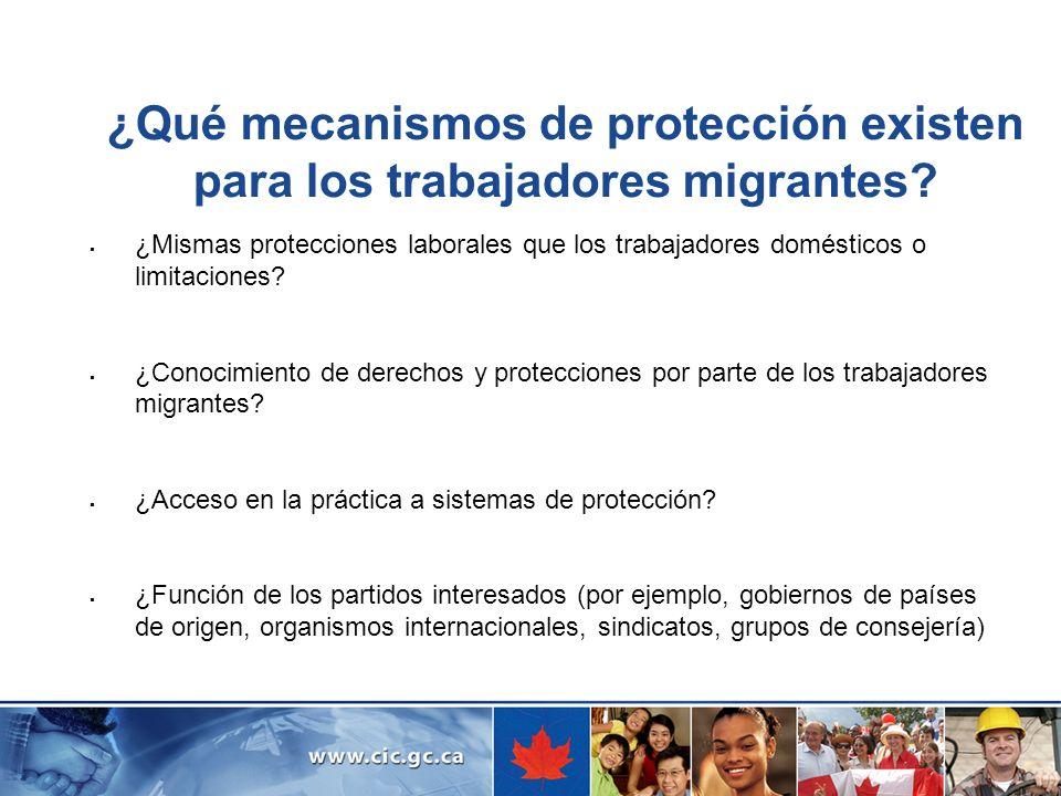 ¿Qué mecanismos de protección existen para los trabajadores migrantes? ¿Mismas protecciones laborales que los trabajadores domésticos o limitaciones?