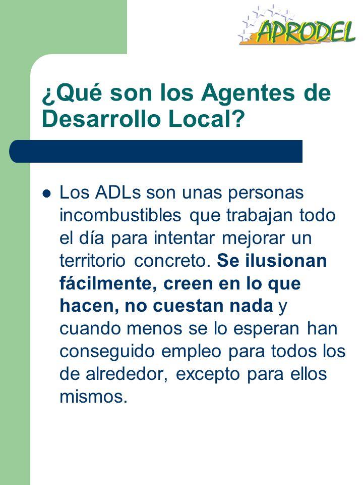 ¿Qué son los Agentes de Desarrollo Local? Los ADLs son unas personas incombustibles que trabajan todo el día para intentar mejorar un territorio concr