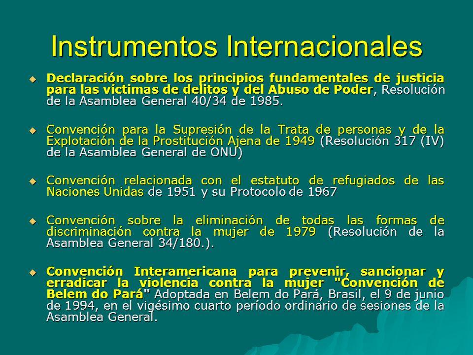 Instrumentos Internacionales Convención contra la Delincuencia Organizada Transnacional, Resolución 55/25 de la Asamblea General de Naciones Unidas, 15 de noviembre del 2000.
