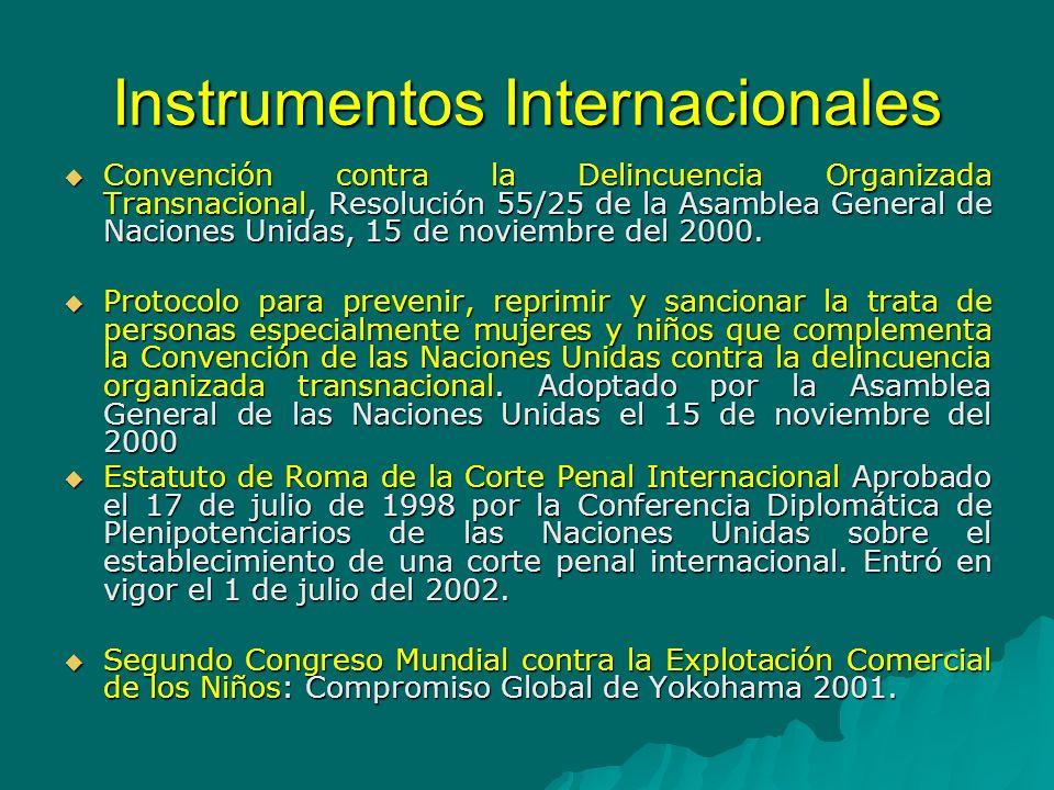 Instrumentos Internacionales Convención Interamericana sobre el Tráfico Internacional de Menores firmada en la ciudad de México, D.F., México, el día dieciocho de marzo de 1994.