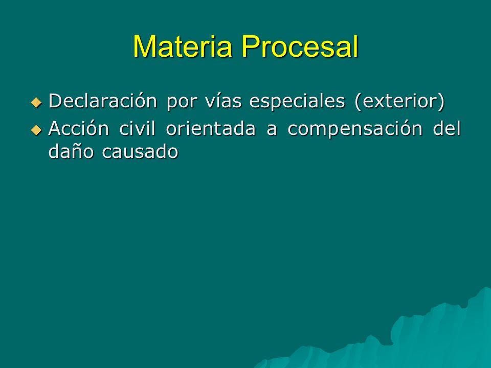 Materia Procesal Recomendaciones La denuncia y análisis en una sola audiencia La denuncia y análisis en una sola audiencia Declaración anticipada en todos los casos Declaración anticipada en todos los casos Prescripción del delito (Lesa Humanidad) En Nicaragua no prescribe.