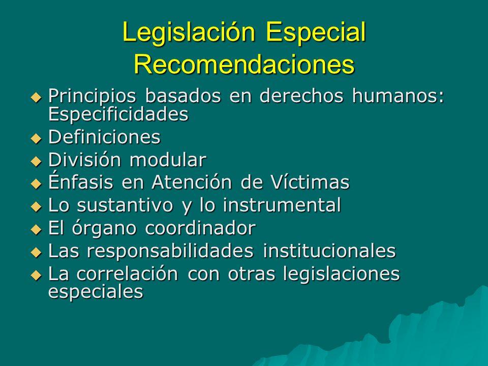 Ley especial Trata de Personas Atención Prevención Constitución Crimen Organizado Migración Protección Víctimas Persecución Protección Cooperación Instrumentos Internacionales