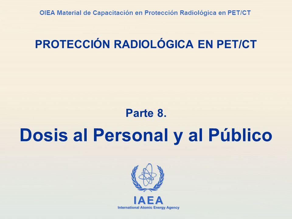 IAEA International Atomic Energy Agency OIEA Material de Capacitación en Protección Radiológica en PET/CT PROTECCIÓN RADIOLÓGICA EN PET/CT Parte 8. Do