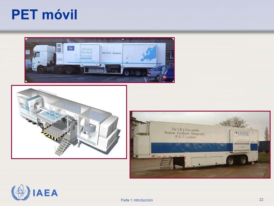 IAEA Parte 1. Introducción 22 PET móvil