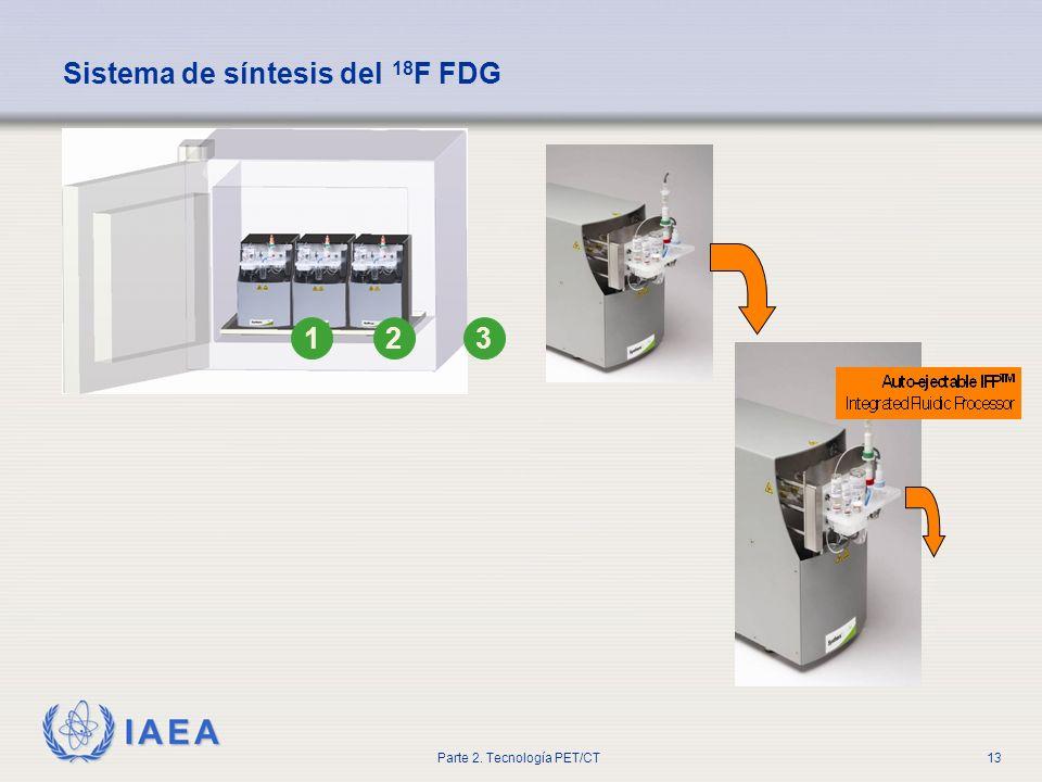 IAEA Parte 2. Tecnología PET/CT13 123 Sistema de síntesis del 18 F FDG
