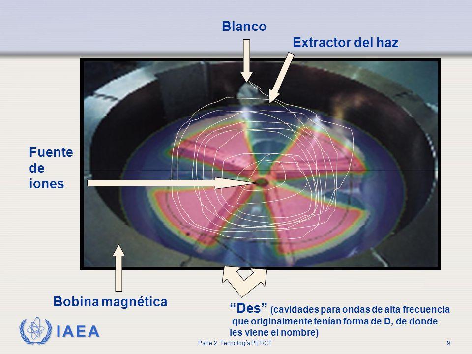 IAEA Parte 2. Tecnología PET/CT9 Des (cavidades para ondas de alta frecuencia que originalmente tenían forma de D, de donde les viene el nombre) Extra