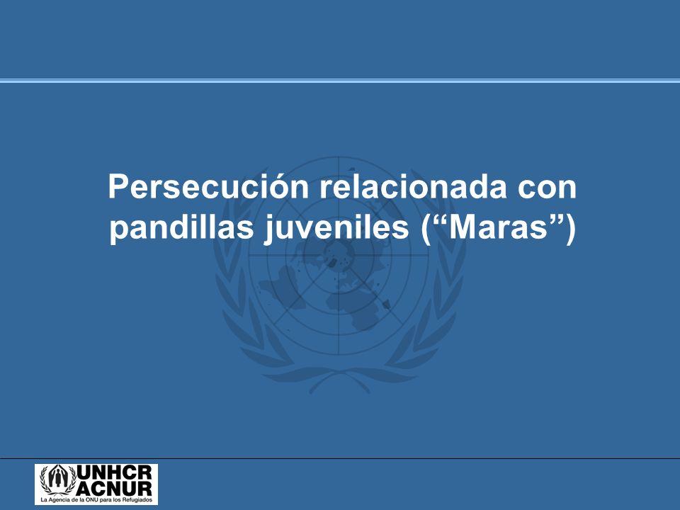Persecución relacionada con pandillas juveniles (Maras)
