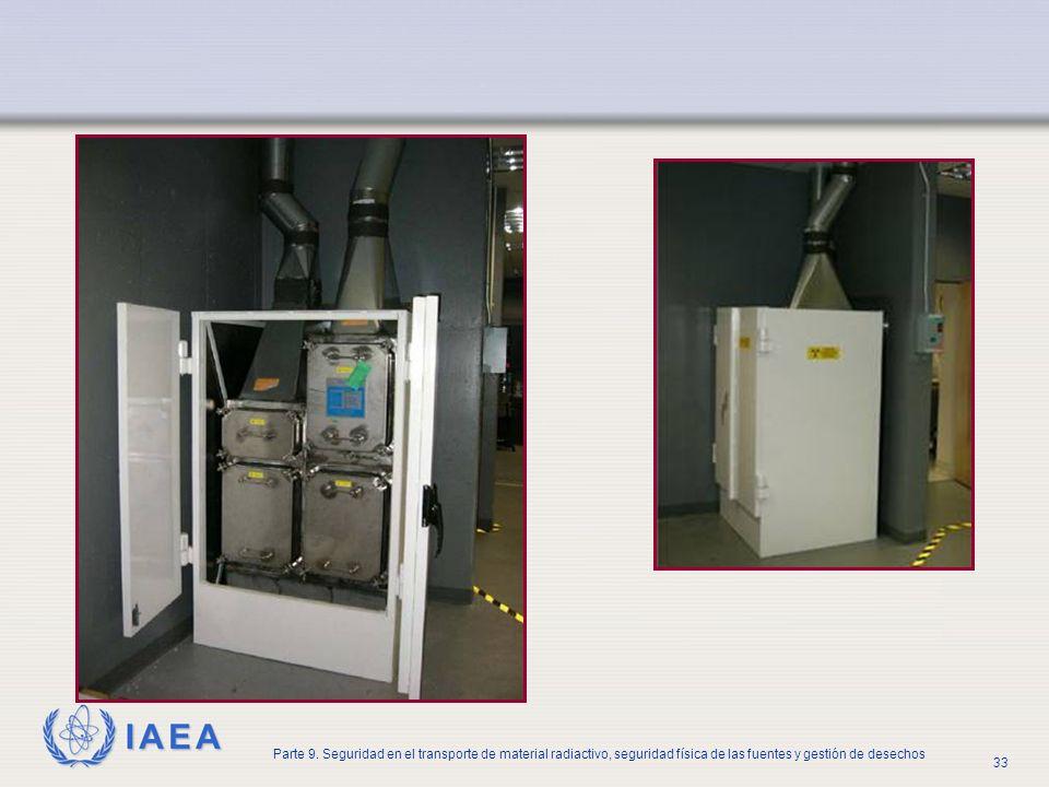 IAEA Parte 9. Seguridad en el transporte de material radiactivo, seguridad física de las fuentes y gestión de desechos 33