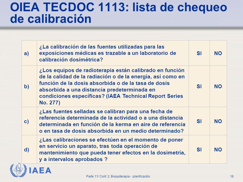 IAEA Parte 11/ Conf.2. Braquiterapia - planificación19 2.