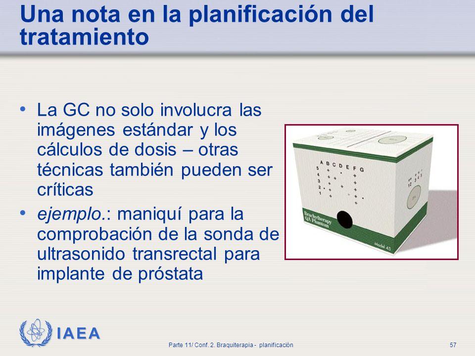 IAEA Parte 11/ Conf.2. Braquiterapia - planificación58 4.
