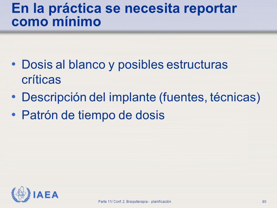IAEA Parte 11/ Conf.2. Braquiterapia - planificación81 5.