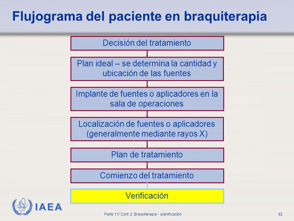 IAEA Parte 11/ Conf.2. Braquiterapia - planificación83 ¿Es importante la verificación.