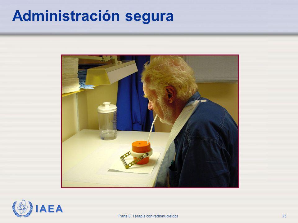 IAEA Parte 8. Terapia con radionucleidos35 Administración segura